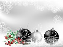 Black christmas Royalty Free Stock Photography