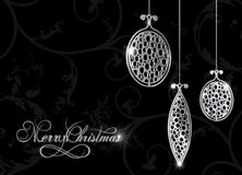 Black Christmas background Royalty Free Stock Image