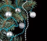 Black Christmas background Royalty Free Stock Photo