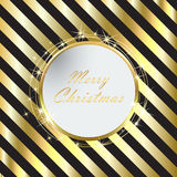 Black Christmas background with Golden stripes royalty free illustration