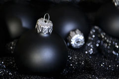 Black christmas Stock Photography