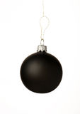 Black christmas ball Royalty Free Stock Photos