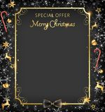 Black Christmas frame royalty free illustration