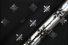 Black christmas paper Royalty Free Stock Image