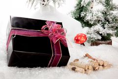 Black Christmas Present Royalty Free Stock Photos