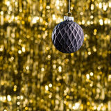 Black Christmas tree bauble Royalty Free Stock Photography