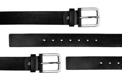 Black chrome belt Royalty Free Stock Image