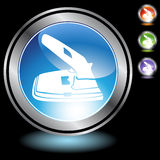 Black Chrome Icons - 2 Hole Punch. A set of 3D icon buttons in silver chrome - 2 hole punch Stock Image