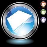 Black Chrome Icons - Binder Stock Photography