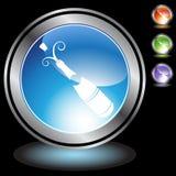 Black Chrome Icons - Champagne Bottle. A set of 3D icon buttons in silver chrome - champagne bottle stock illustration