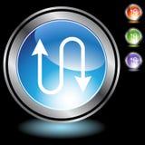 Black Chrome Icons - Ethernet Royalty Free Stock Photos
