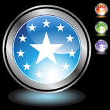 Black Chrome Icons - Stars. A set of 3D icon buttons in silver chrome - stars Stock Photography