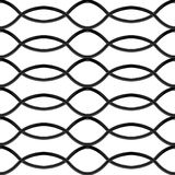 Black chrome steel Grating seamless structure. Wave shape. Chainlink isolated on white background. Vector illustration. EPS 10 Royalty Free Stock Photos