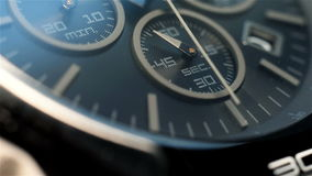 Black Chronograph Watch stock video footage