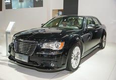 Black chrysler 300c car Stock Photos