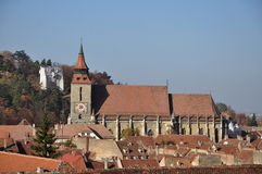 Black Church. A beautiful autumn day in Brasov Royalty Free Stock Images