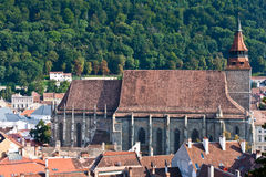 Black Church Brasov. Lateral view of Black Church in Brasov, Romania Royalty Free Stock Images