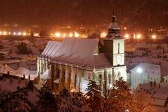 Black church, Brasov, night view. royalty free stock image