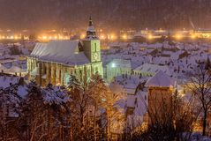The Black church, Brasov, Romania royalty free stock images