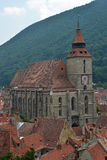 The Black Church of Brasov, Romania. The Black Church (Die Schwarze Kirche - in German, Biserica Neagra - in Romanian) is the major landmark of the Transylvanian stock photography