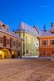 The Black church, Brasov, Romania royalty free stock photography