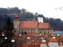 Black Church, Brasov, Transilvania, Romania Royalty Free Stock Photos