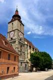 Black Church in Brasov, Transylvania, Romania royalty free stock images