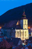 Black Church in Brasov, winter time, Romania Royalty Free Stock Photos