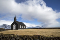 Black Church of Budir Stock Images