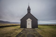 The black church of Budir West Iceland Royalty Free Stock Images