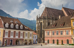 Black church at the central square in Brasov Stock Photography