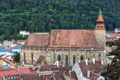 Black church in the city of Brasov, Romania. Royalty Free Stock Photography