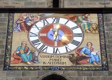 Black Church Clock. In Brasov, Romania Royalty Free Stock Images