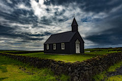 Black Church. In Iceland in the area of the West Fjords Stock Photo