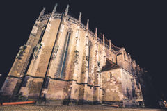 Black church by night, Brasov, Romania. Royalty Free Stock Images