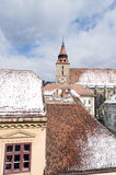 The Black Church Tower Brasov landscape Royalty Free Stock Images