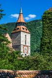 Black Church tower, Brasov, Romania Royalty Free Stock Photo