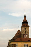 Black Church Tower in Brasov, Transylvania, Romania Stock Image