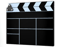 Black cinema clap. Board on white background Stock Photography