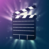 Black cinema clapper. Royalty Free Stock Images