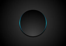 Black circle abstract tech background. Vector corporate design Royalty Free Stock Image