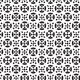 Black circle and black crosswise square inside and outside pattern Royalty Free Stock Photo