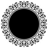 Black circle frame Stock Photo