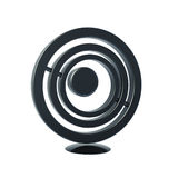 Black circle icon 3d model. Black circle icon isolated on white 3d model Royalty Free Stock Photos