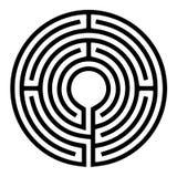 Circle Maze. Black Circle Maze 3D Rendering Royalty Free Stock Image
