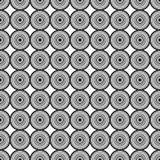 Black Circle Mirage Seamless on White Background. Vector Illustration Royalty Free Stock Photo