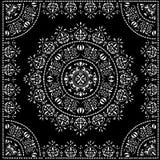 Black circle pattern in frame Royalty Free Stock Images