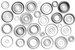 Black circles Royalty Free Stock Photography
