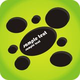 Black circles@green background Royalty Free Stock Photo