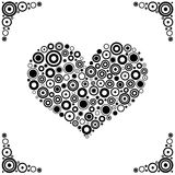 Black circles Heart Vector Royalty Free Stock Photography